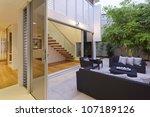 modern backyard with... | Shutterstock . vector #107189126