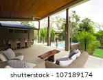 modern backyard with... | Shutterstock . vector #107189174