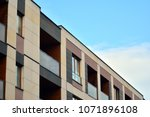 modern and new apartment... | Shutterstock . vector #1071896108