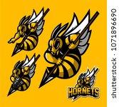 hornet bee esport gaming mascot ... | Shutterstock .eps vector #1071896690