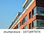 modern and new apartment... | Shutterstock . vector #1071897074