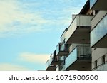 modern and new apartment... | Shutterstock . vector #1071900500