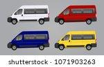 mini bus  car van vector... | Shutterstock .eps vector #1071903263
