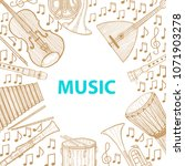 musical instruments composition.... | Shutterstock .eps vector #1071903278