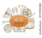 musical instruments composition.... | Shutterstock .eps vector #1071903284