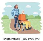 vector cartoon illustration of... | Shutterstock .eps vector #1071907490