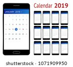 vector calendar for 2019 year....
