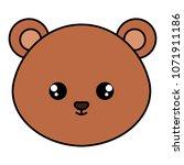 cute bear head character | Shutterstock .eps vector #1071911186