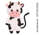 cute and little cow character | Shutterstock .eps vector #1071912206