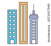 buildings cityscape isolated... | Shutterstock .eps vector #1071917540