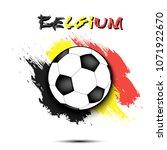 soccer ball on the background...   Shutterstock .eps vector #1071922670