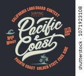 surfing t shirt graphic design. ... | Shutterstock .eps vector #1071923108