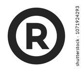 r vector icon  original symbol. | Shutterstock .eps vector #1071924293