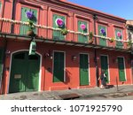 french quarter architecture in... | Shutterstock . vector #1071925790