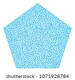 filled pentagon mosaic of small ...   Shutterstock .eps vector #1071928784