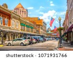 small town usa main street... | Shutterstock . vector #1071931766