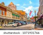 small town usa main street... | Shutterstock . vector #1071931766