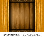 wood wall and thai art line ... | Shutterstock .eps vector #1071938768