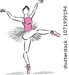 ballet dancer vector... | Shutterstock .eps vector #1071939194