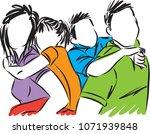 happy family vector illustration | Shutterstock .eps vector #1071939848
