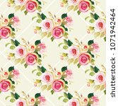 seamless floral pattern with... | Shutterstock .eps vector #1071942464