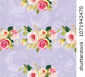 seamless floral pattern with... | Shutterstock .eps vector #1071942470