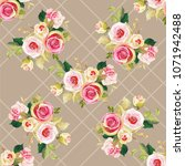 seamless floral pattern with... | Shutterstock .eps vector #1071942488