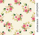 seamless floral pattern with... | Shutterstock .eps vector #1071942494