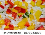 fresh delicious colorful bell...   Shutterstock . vector #1071953093