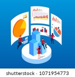 data analysis and testing | Shutterstock .eps vector #1071954773