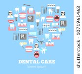 dental care poster with flat... | Shutterstock .eps vector #1071961463