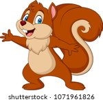 cute squirrel cartoon | Shutterstock .eps vector #1071961826
