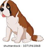saint bernard dog breed | Shutterstock .eps vector #1071961868