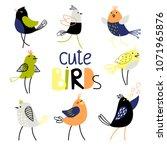 set of cute birds | Shutterstock .eps vector #1071965876