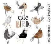 set of charming birds | Shutterstock .eps vector #1071965924