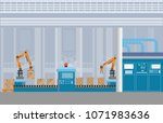 manufacturing warehouse...   Shutterstock .eps vector #1071983636