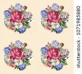 beautiful floral seamless... | Shutterstock .eps vector #1071985880