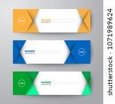 modern geometrics banners web... | Shutterstock .eps vector #1071989624