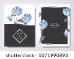 botanical wedding invitation... | Shutterstock .eps vector #1071990893