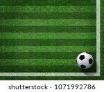 3d rendering of soccer ball... | Shutterstock . vector #1071992786