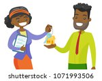 young african american real... | Shutterstock .eps vector #1071993506