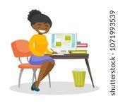 african american student... | Shutterstock .eps vector #1071993539