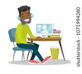 african american businessman... | Shutterstock .eps vector #1071994280