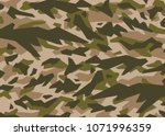 green camouflage pattern....   Shutterstock .eps vector #1071996359
