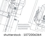blueprint  sketch. vector... | Shutterstock .eps vector #1072006364