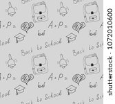 funny seamless pattern in hand... | Shutterstock .eps vector #1072010600