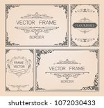 set of decorative vintage... | Shutterstock .eps vector #1072030433