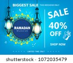 creative arabic pattern with... | Shutterstock .eps vector #1072035479