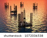 Extraction Of Oil In The Sea.....