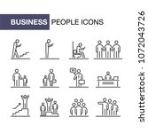 business people icons set... | Shutterstock . vector #1072043726